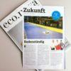 Es ist ein Zeitungsbericht in der ECO Nova mit dem Titel Bodenständig über Floorwork zu sehen.